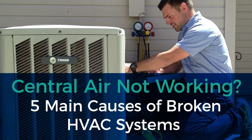 Central Air Not Working? 5 Main Causes of Broken HVAC Systems